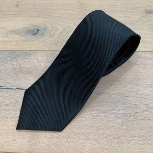 Adolfo Black 100% Silk Necktie